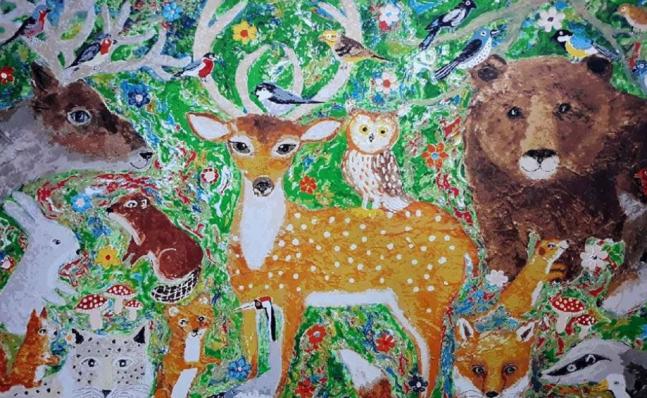 Katja M Animals in woodland (serigraphs)